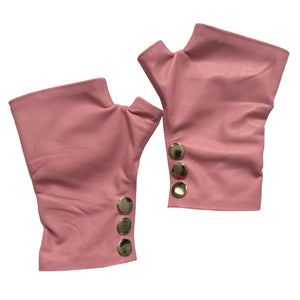 Open image in slideshow, Rose Leather Gloves