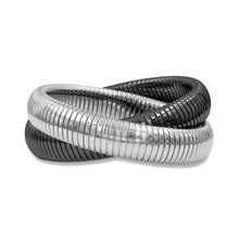 "Load image into Gallery viewer, High Polished 5/8"" Flexible Double Twist Bracelet"