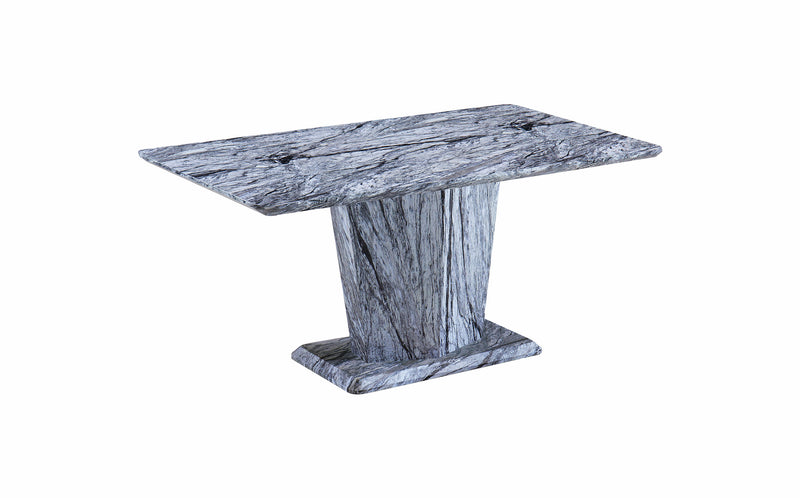Marble Effect Dining Table With Pedestal 5 Colours