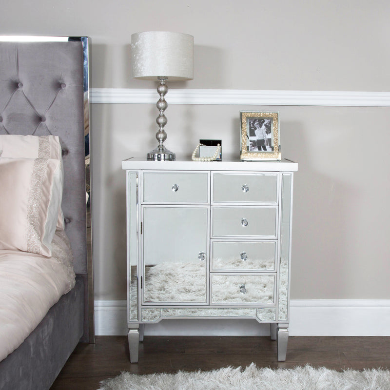 Value 5 Drawer Mirrored Sideboard