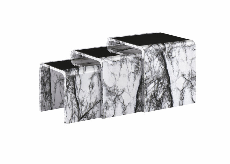 Marble Effect Nest of Tables 5 Colours