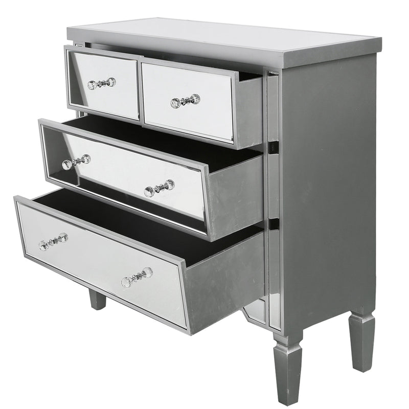 Value Mirrored 2 + 2 Chest of Drawers