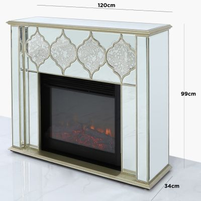Marrakech Gold Mirror Fireplace
