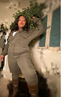 """Ready For Whatever"" Jumpsuit OLIVE"