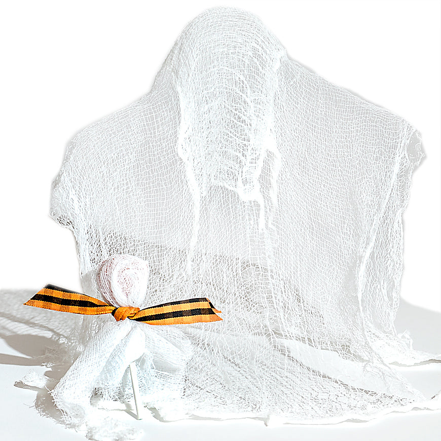 dritz cheesecloth ghost project