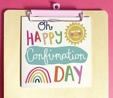 Image of Oh Happy Confirmation Day Single Card other