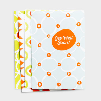 Image of Get Well - Cheerful Patterns - 12 Boxed Cards, KJV other