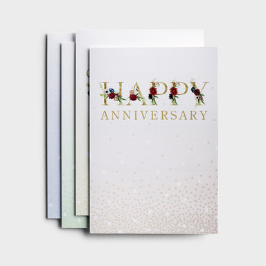 Image of Anniversary - Floral - 12 Boxed Cards, KJV other