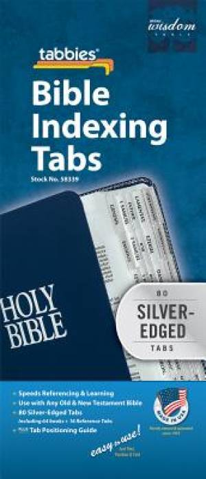 Image of Bible Index Tab Silver Regular other