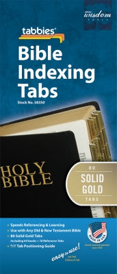 Image of Bible Index Tabs Solid Gold Reg other
