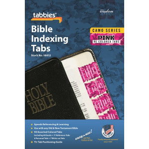 Image of Bible Index Tabs Camo 'Pink' other