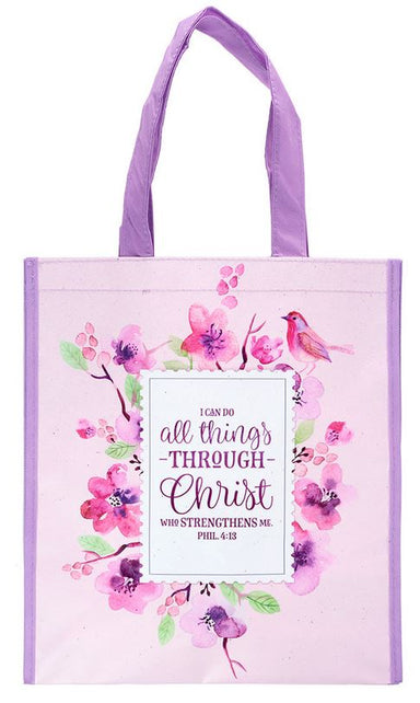 Image of All Things Through Christ Tote Bag other