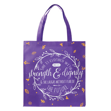 Image of Strength and Dignity Tote Shopping Bag - Proverbs 31:25 other