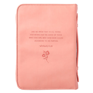 Image of He Works All Things for Good Faux Leather Bible Cover - Romans 8:28 other