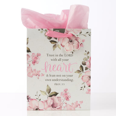 "Image of ""Trust in the Lord"" Medium Gift Bag – Proverbs 3:5 other"
