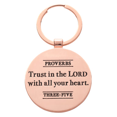 Image of Trust in the Lord Key Ring with Tin - Proverbs 3:5 other