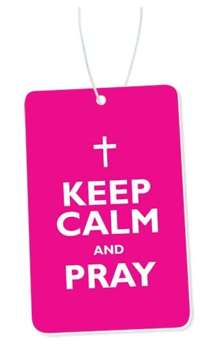 Image of Keep Calm and Pray Car Air Freshener other