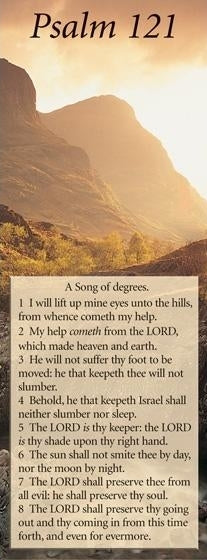 Image of Bible Passage Bookmarks: I will lift up mine eyes unto the hills - Psalm 121 other