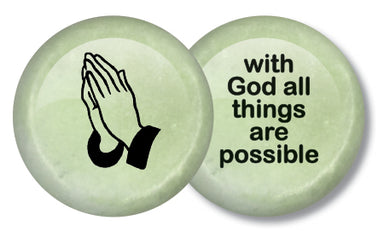 Image of Praying Hands Stone Keepsake other