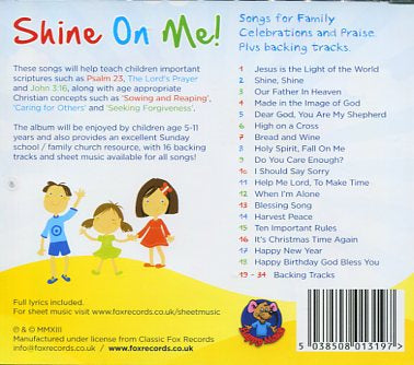 Image of Shine On Me CD other
