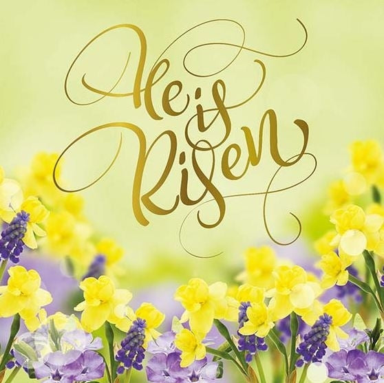 Image of He is Risen Charity Easter Cards Pack of 5 other