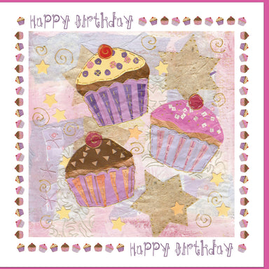 Image of Birthday Cup Cakes Greetings Card other