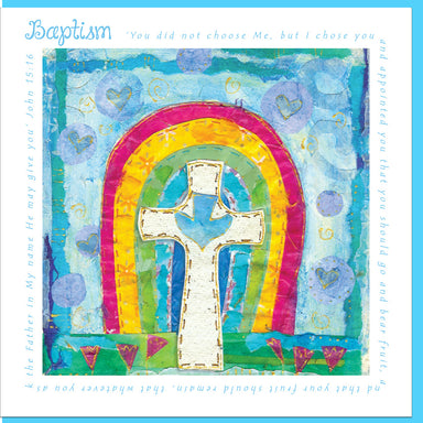 Image of Baptism Rainbow Greetings Card other