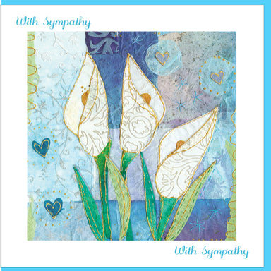 Image of Sympathy Flowers Greetings Card other