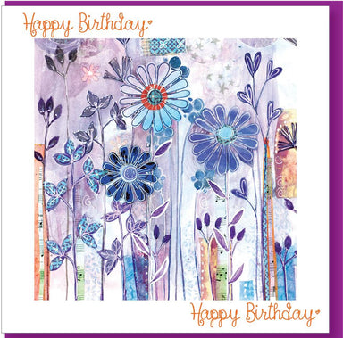 Image of Birthday Purple Flowers Greetings Card other