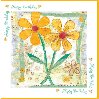 Image of Birthday Yellow Flowers Greetings Card other