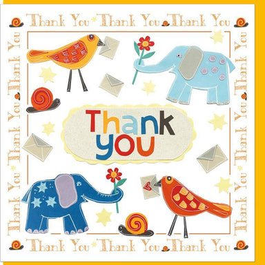 Image of Thank you elephants  Greetings Card other