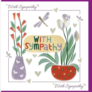 Image of Sympathy Pot Plant  Greetings Card other