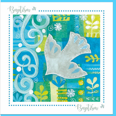 Image of Baptism dove Greetings Card other