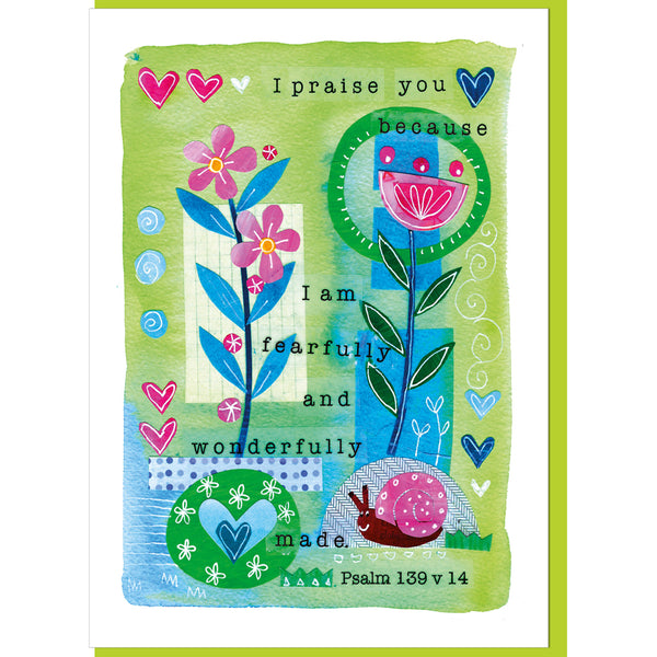 Image of Fearfully & wonderfully made Greetings Card other