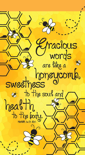 Image of Gracious words like honeycomb jotter notepad other
