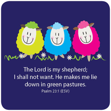 Image of The Lord is my Shepherd coaster other