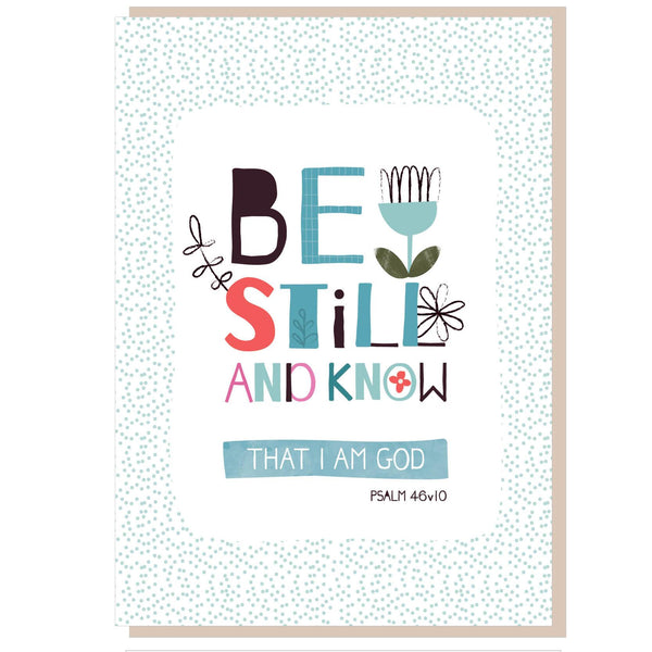 Image of Be still and know Greetings Card other