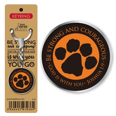 Image of Be strong and courageous Keyring other