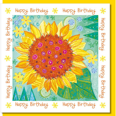 Image of Birthday sunflower Greetings Card other