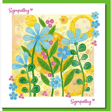 Image of Sympathy blue flowers Greetings Card other