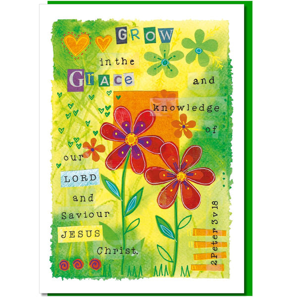 Image of Grow in grace Greetings Card other