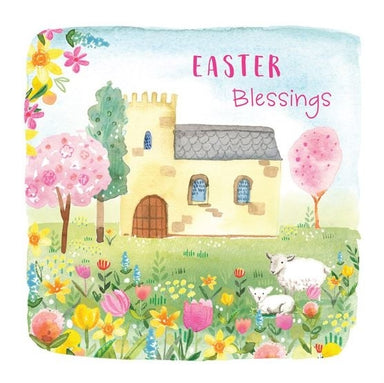 Image of Easter Blessings Church Scene Charity Easter Cards Pack of 5 other