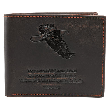 Image of Brown Genuine Leather Wallet - Isaiah 40:31 other