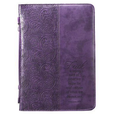 Image of Faith Purple Imitation Leather Large Bible Cover other