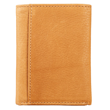 Image of Saddle Tan Genuine Leather Tri-Fold Wallet - Isaiah 40:31 other