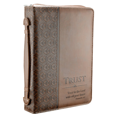 Image of Trust Brown Imitation Leather Bible Cover - Large other