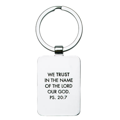 Image of Keep Calm And Trust God Metal Keyring other