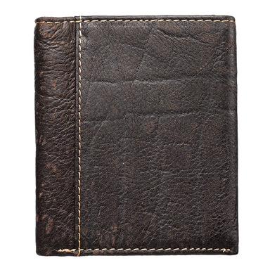 Image of Three Crosses in Brown Leather Wallet other