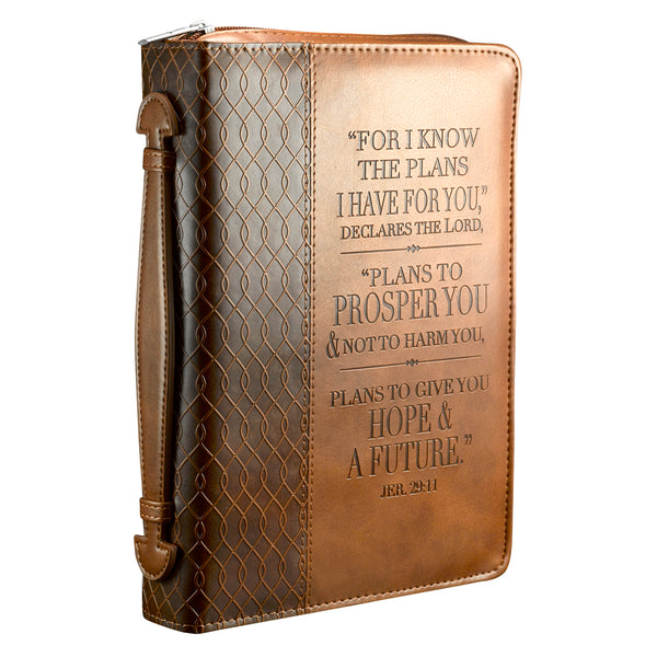Image of Jeremiah 29:11 (Brown) Two-tone LuxLeather Bible Cover - Medium other