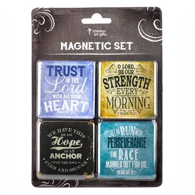 Image of Finishing Strong Collection Inspirational Fridge Magnet Set other